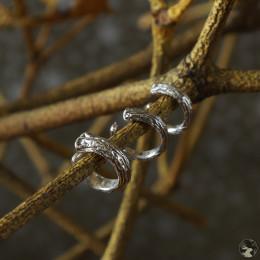 """Серебряные каффы """"Ветвь омелы"""" трех разных размеров"""