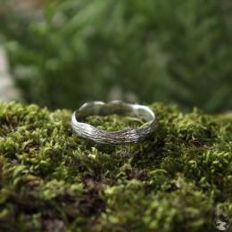 """Фактурное кольцо """"Кора"""" из серебра"""